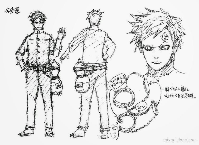 Gaara Design in Naruto The Last