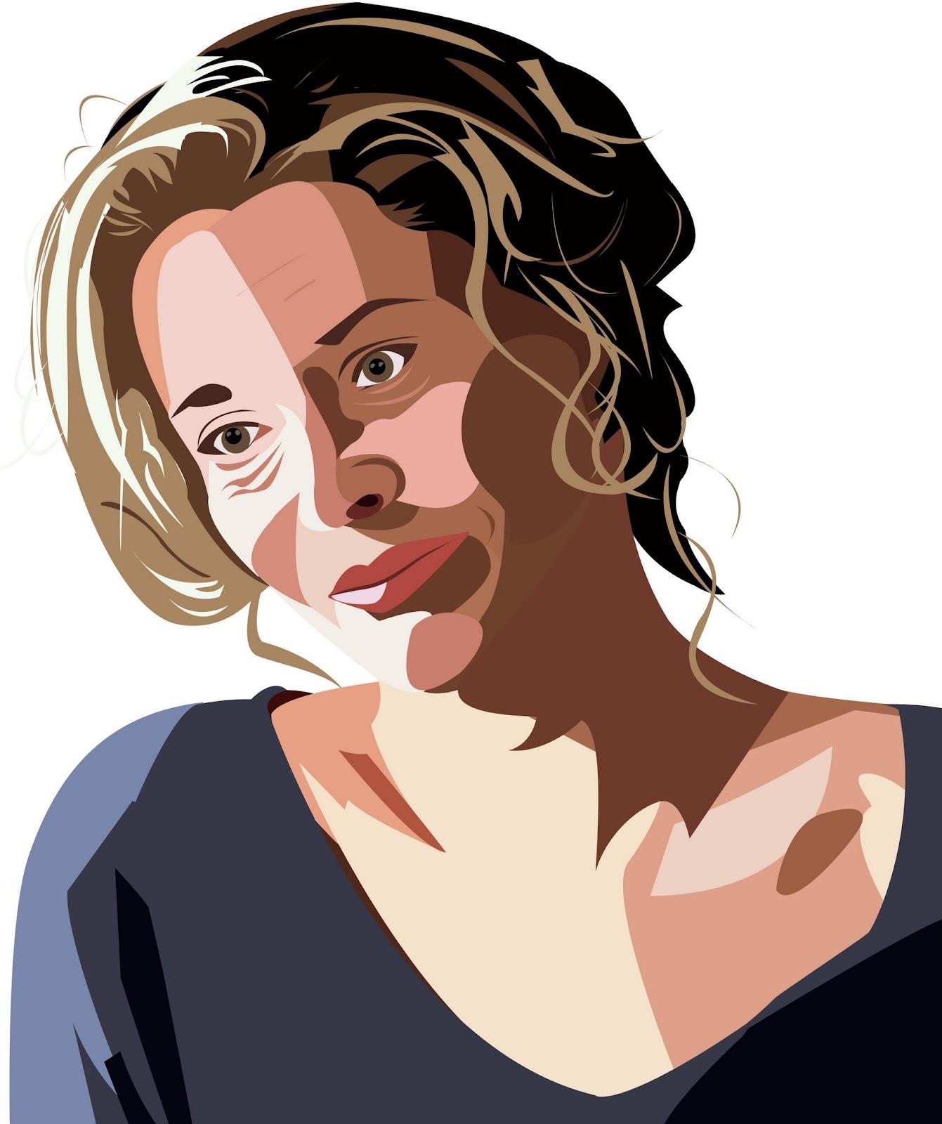 Dibujo de Belén Rueda con Illustrator