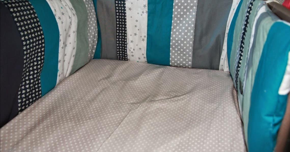 laisse luciefer tuto tour de lit patchwork. Black Bedroom Furniture Sets. Home Design Ideas