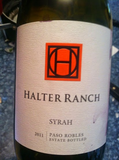 2011 Halter Ranch Syrah. Cooking Chat April #wine pick.