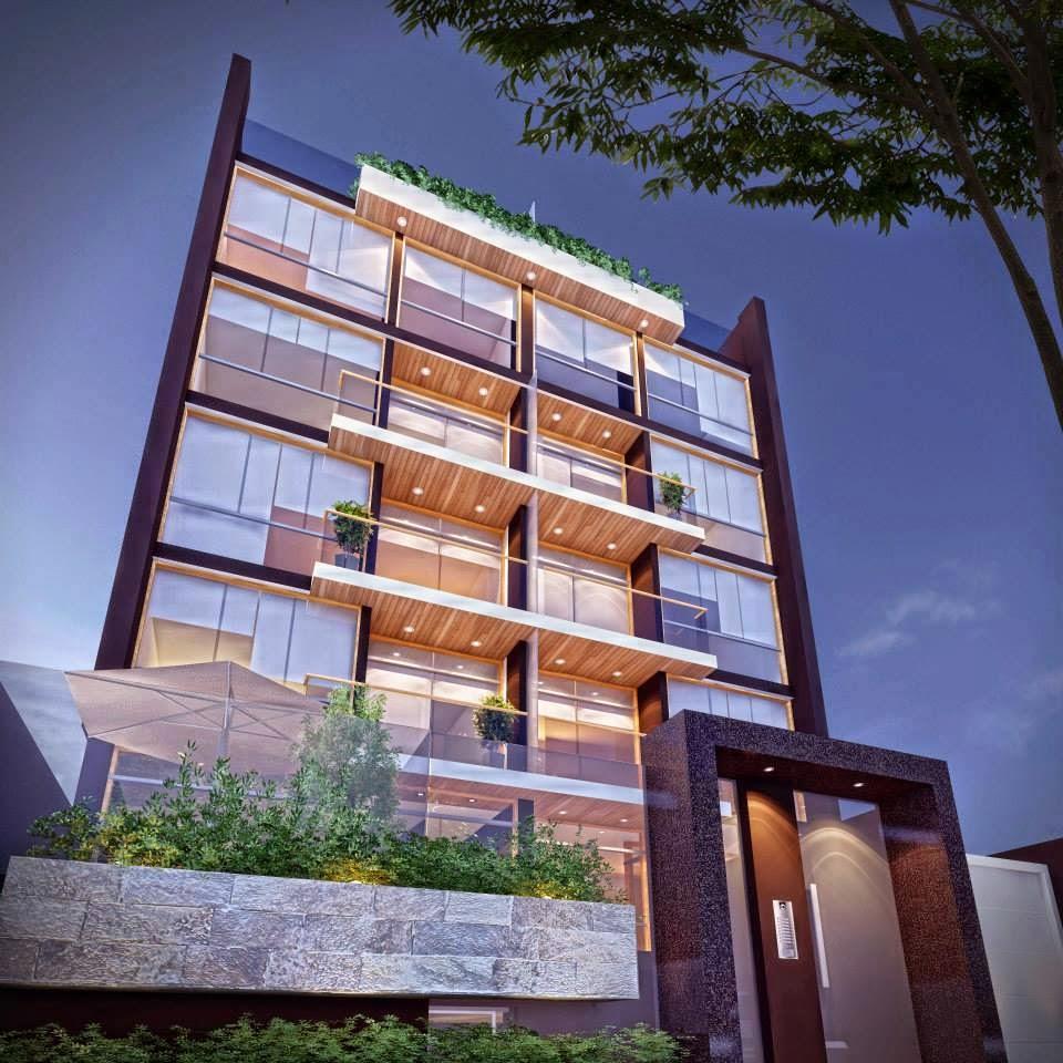 Fachadas de edificios de departamentos fachadas de casas for Foto minimalista