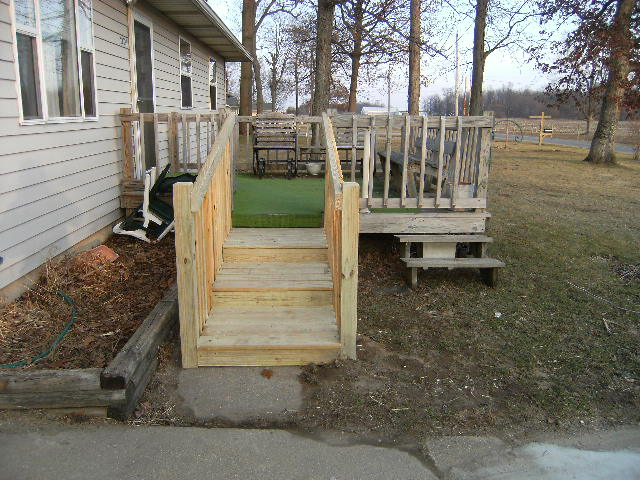 ADA Walker Handicap Stairs Instead Of A Wheelchair Ramp Universal Design