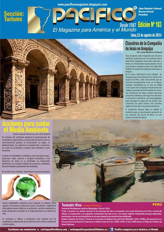 Revista Pacífico Nº 183  Turismo