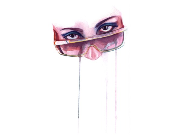 marion bolognesi pinturas aquarelas olhares olhos mulheres femininos