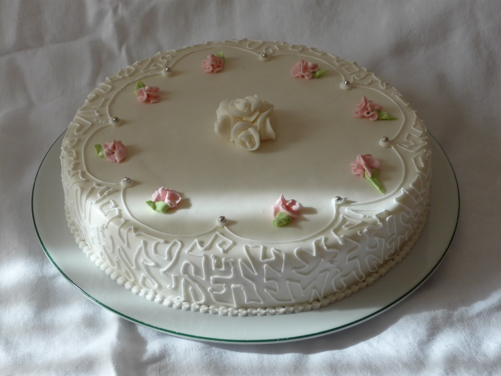 Le torte di ross torta per la s cresima di francesca for Decorazioni torte per cresima