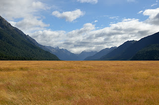 Eglinton Valley between Te Anau and Milford Sound in New Zealand