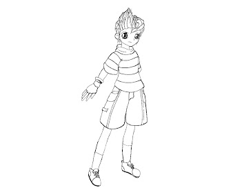 #3 Lucas Coloring Page