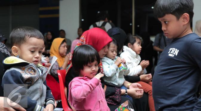Wajah Lucu dan Menggemaskan Anak-anak TKI Overstay Saat Pulkam
