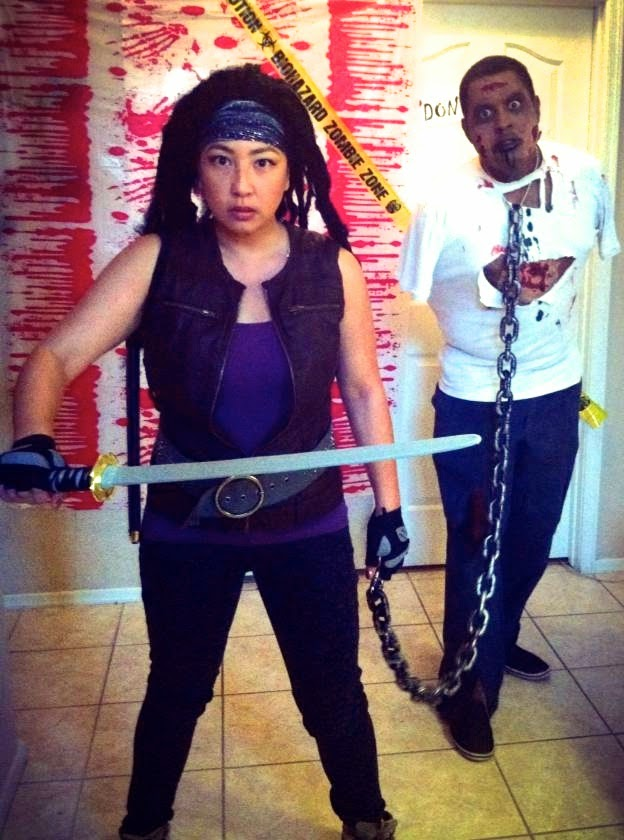 TWD Michonne and Zombie Pet Halloween Costume