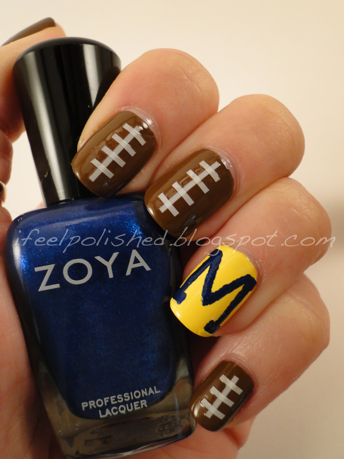 u of m Nails · Football Nails