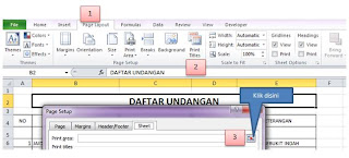 Set Print Titles - Print Area pada MS Office 2010