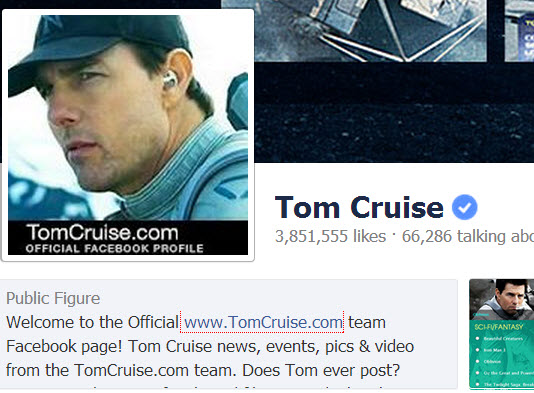 Tom Cruise FB