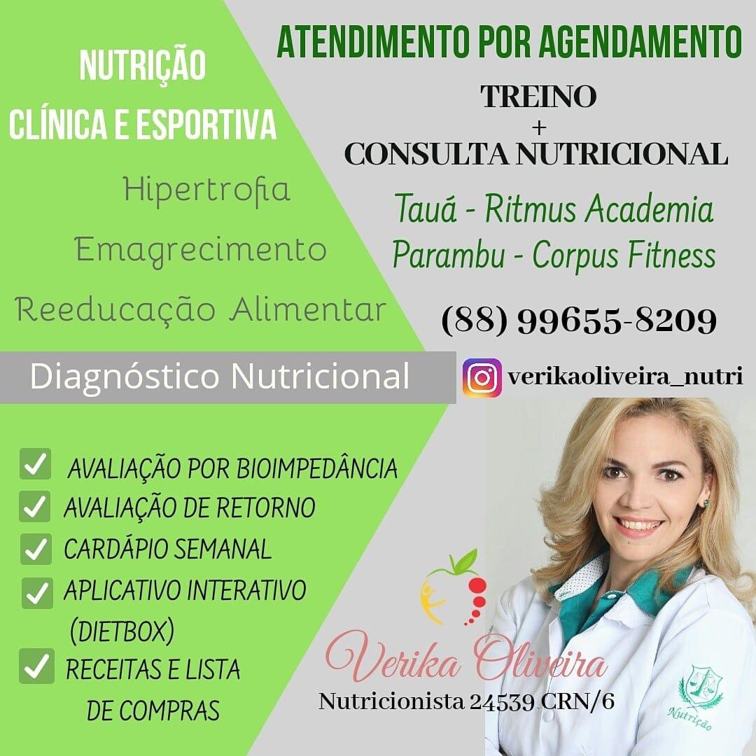 Verika Oliveira Nutricionista. Tauá e Parambú.