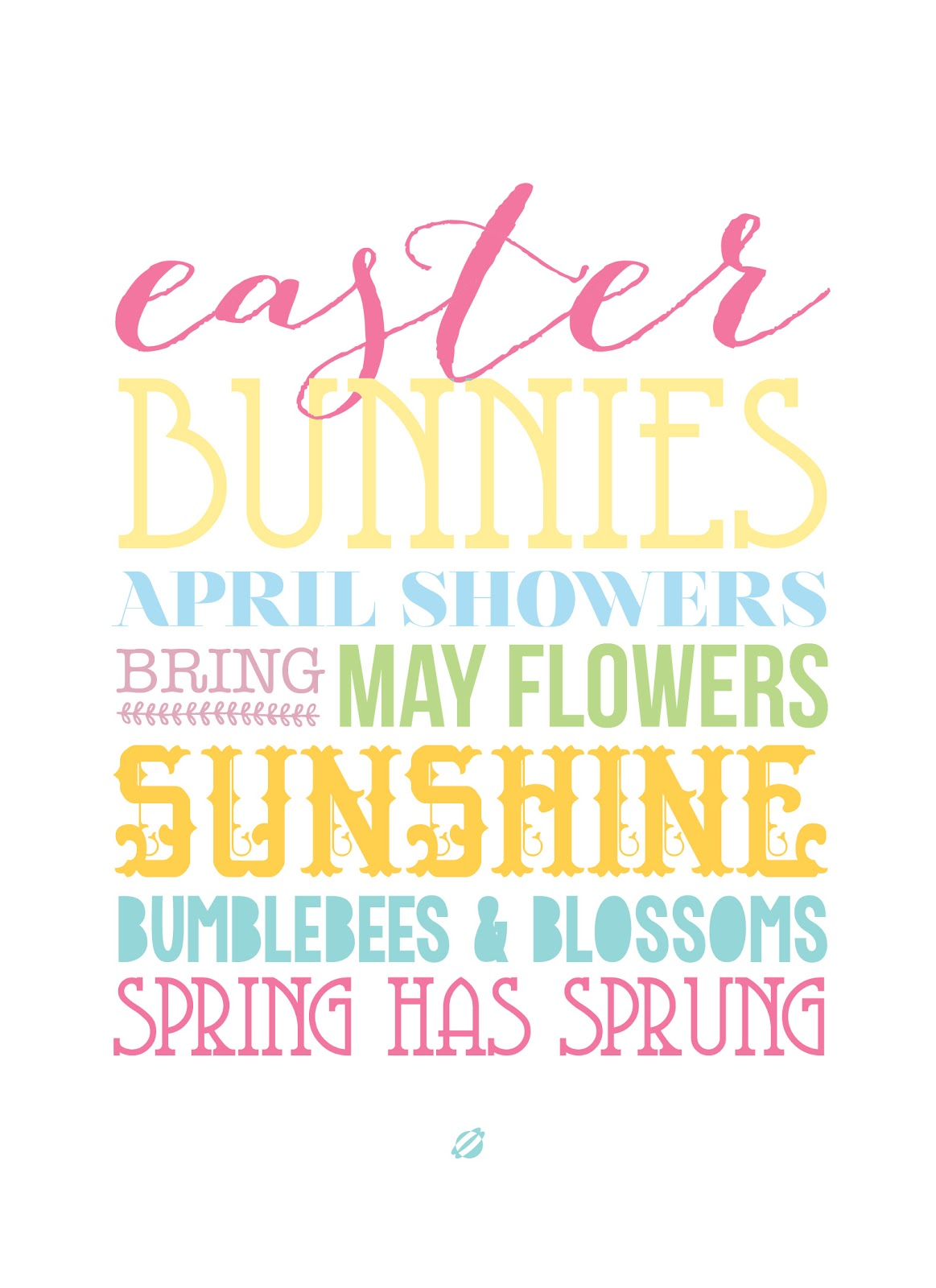 LostBumblebee 2014 ©2014 Spring has Sprung FREE PRINTABLE for personal use only