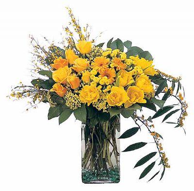 Aranjman sarı çiçek