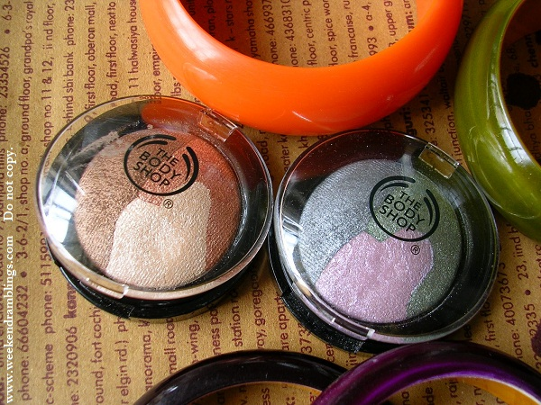 TBS Precious Pearlescent Collection Fall 2009 Eyeshadow Trio Palette Moonlight Lusture Sundown Glow Swatches Review Eye Makeup