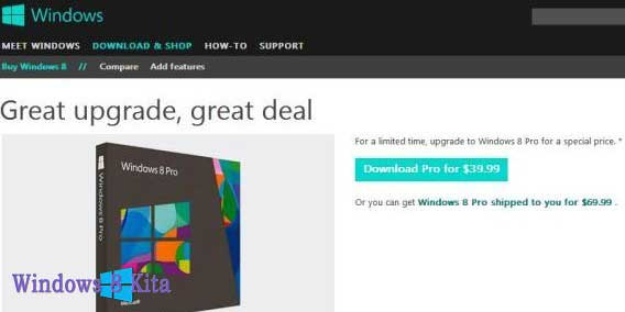 Upgrade ke Windows 8 Dari Windows 7, XP dan Vista