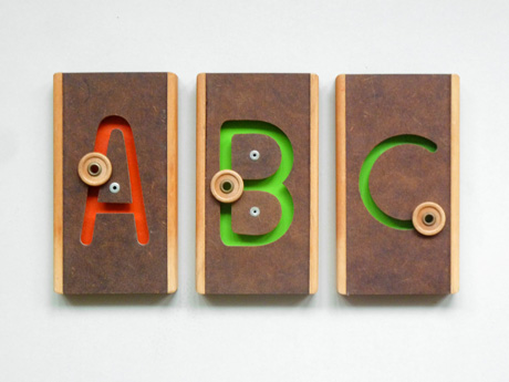 Vintage Montessori Material Letters