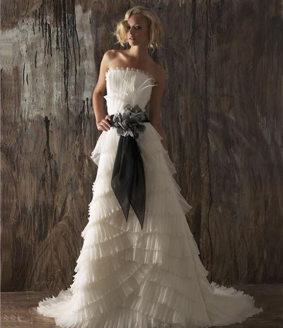 Sashwedding Dress Sash: Wedding Dresses With Colored Sash