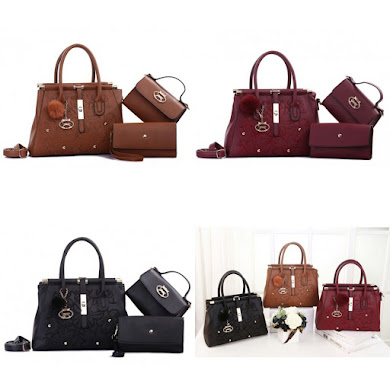 HANDBAG GRED AAA - BLACK , BROWN , MAROON