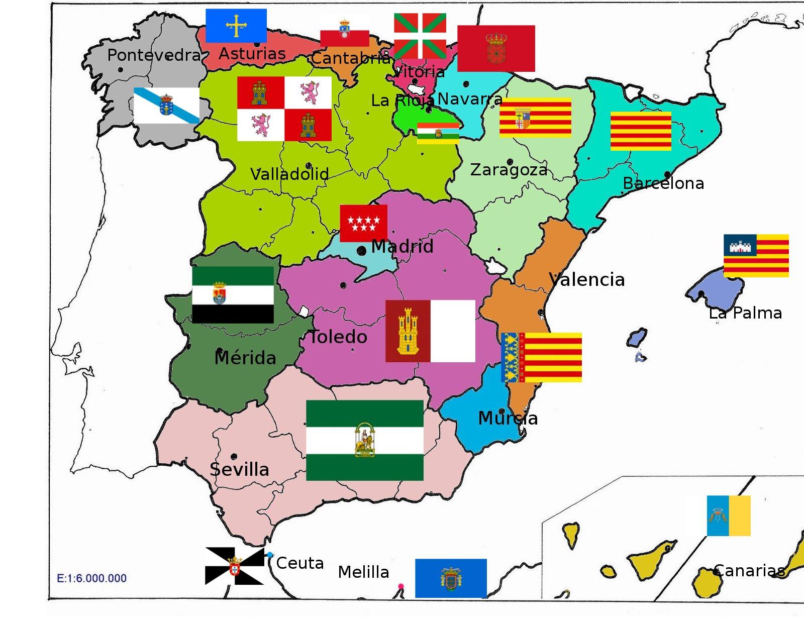 Mapa de España fÃsico, con provincias o rÃos para imprimir