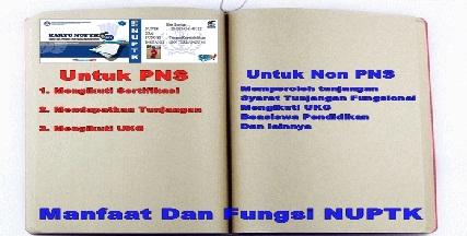 Apa Manfaat dan fungsi NUPTK Bagi PNS dan Non PNS