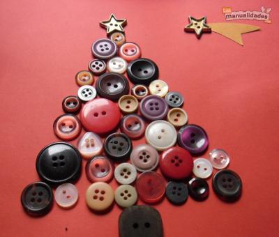 Navidad con botones de tin marin talleres infantiles for Manualidades para diciembre