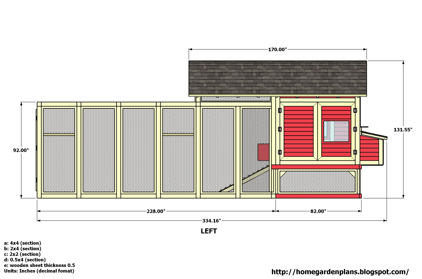 Bertia lanhe 5 x 6 chicken coop plans free for Chicken coop plans free
