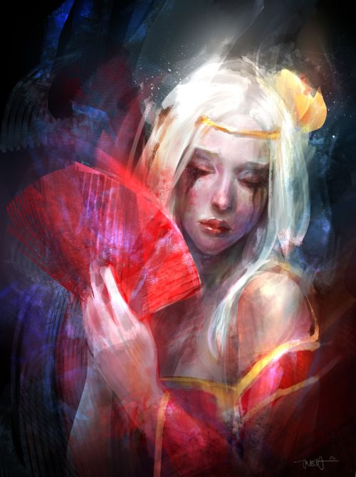 Francis Tneh deviantart ilustrações mulheres fantasia Geisha