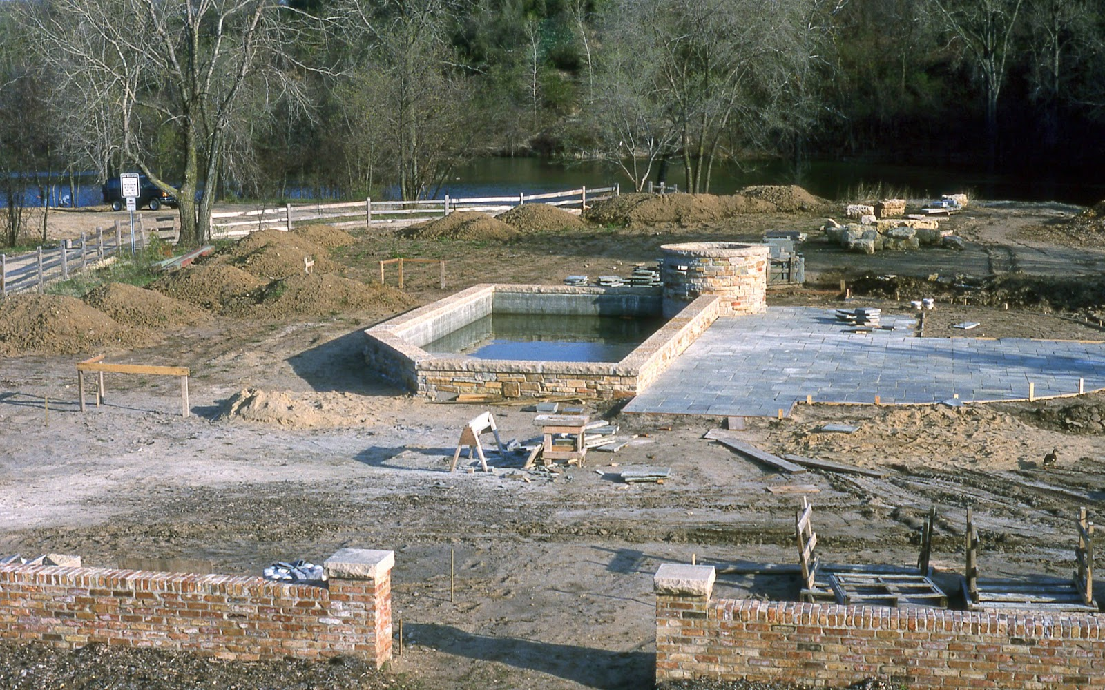 Rotary botanical gardens hort blog a blast from the past for Koi pond builders near me