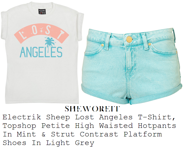 Frankie Sandford's Electrik Sheep Lost Angeles White Crop Tee, ...