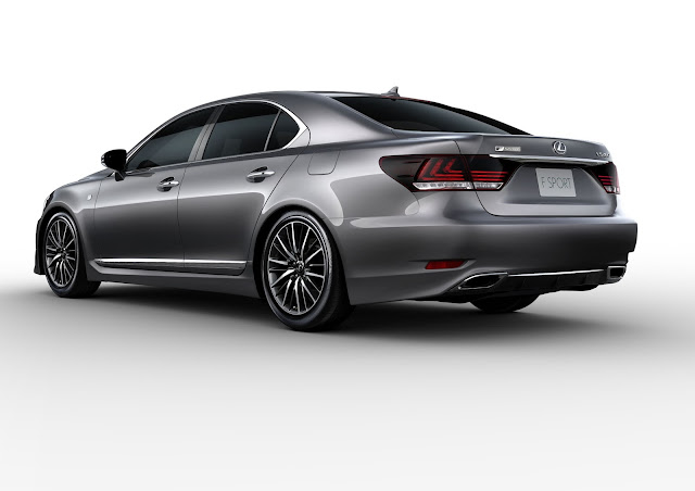 Rear 3/4 view of 2015 Lexus LS 460 F SPORT