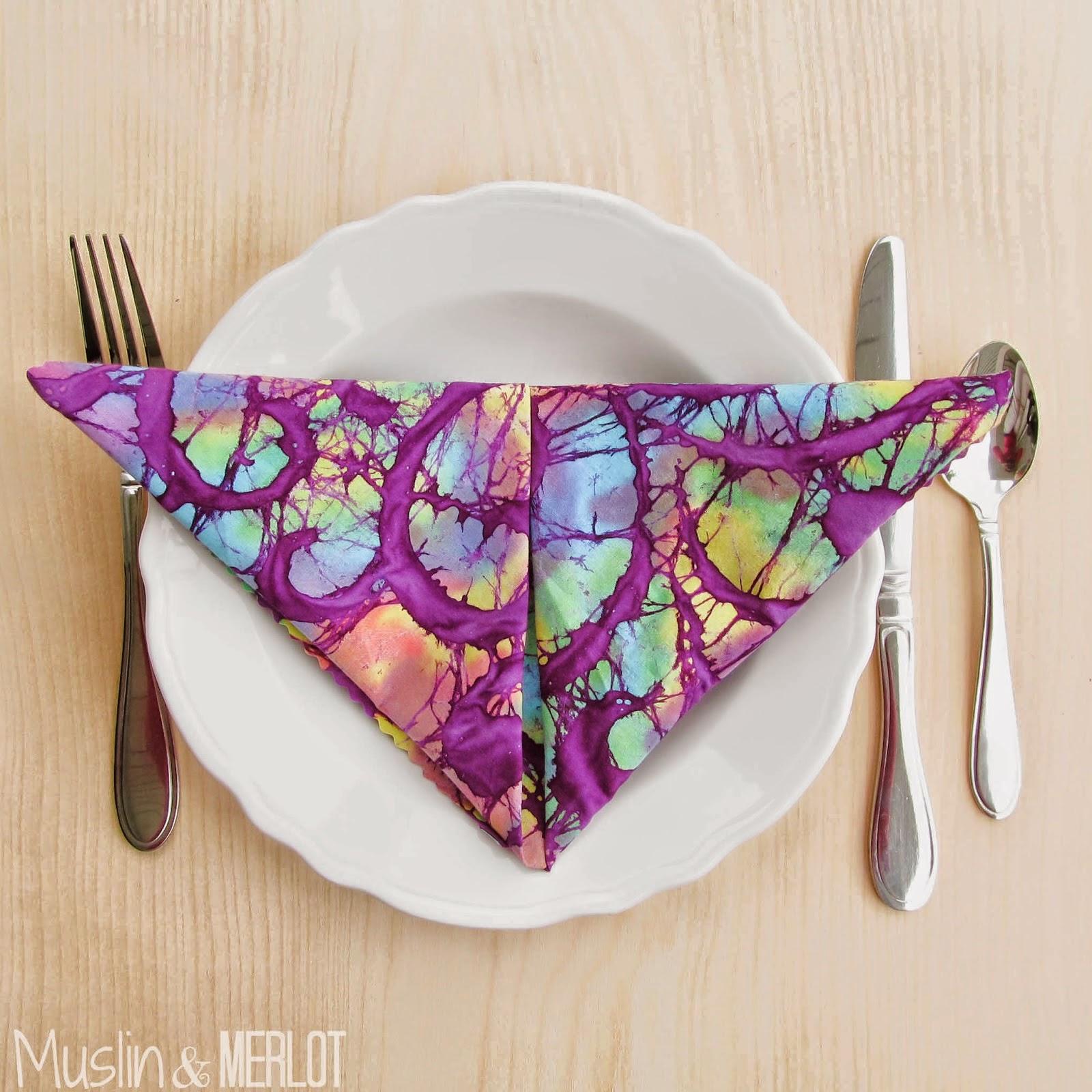 http://muslinandmerlot.blogspot.com/2014/07/how-to-make-no-sew-table-napkins.html