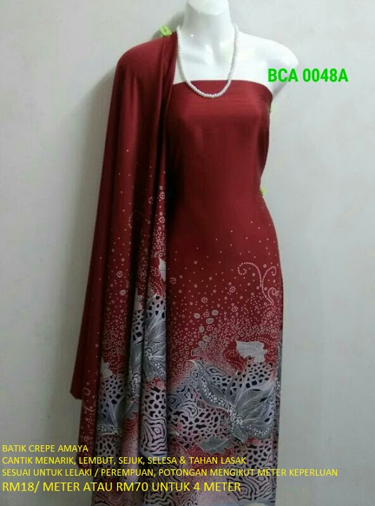 BCA 0048A: BATIK CREPE AMAYA, OPEN METER, RM18/MTR