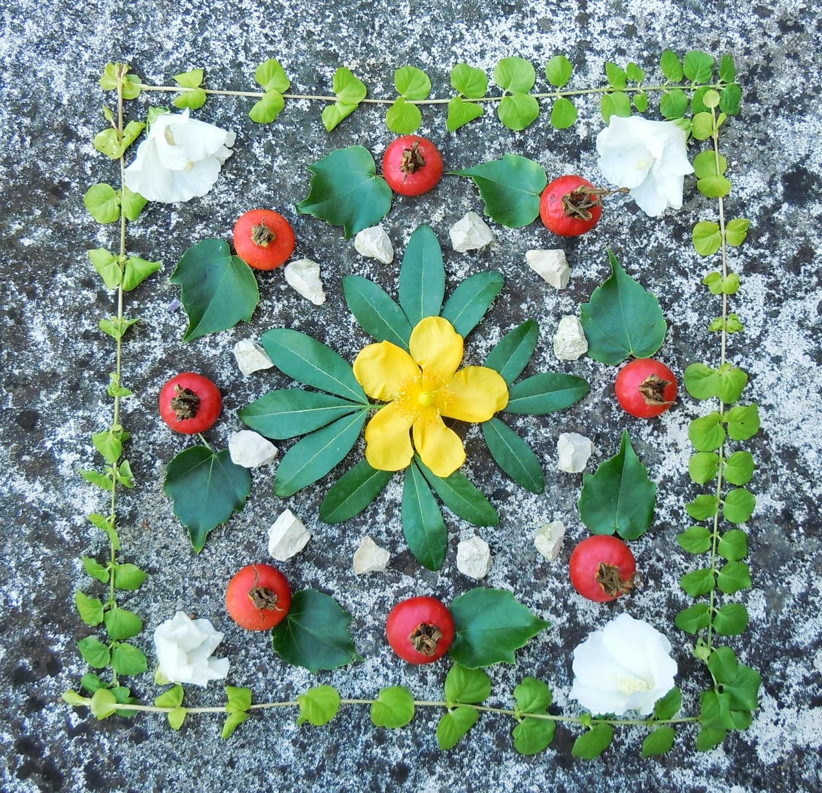chaque jour coute une fleur mandalas ph m res art nature et land art. Black Bedroom Furniture Sets. Home Design Ideas