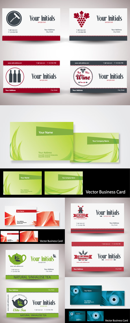 Business Cards - Vector Set
