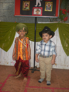 kids as bhagat singh and jhansi ki rani