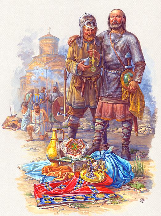 Воїни доби Давньої Русі X - XI століть на малюнках-реконструкціях Олега  Федорова 421142e97e19f