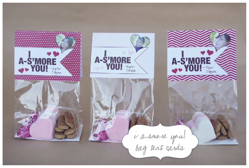 Nellie Design: Valentine's S'more Favor Bag Tags