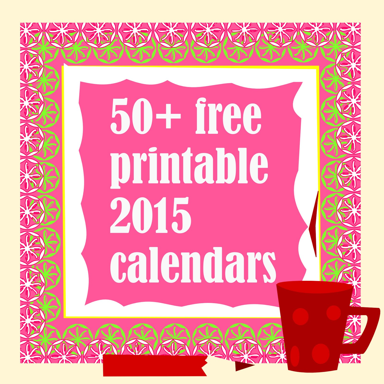 50+ free printable 2015 calendars - ausdruckbare Kalender - round-up ...