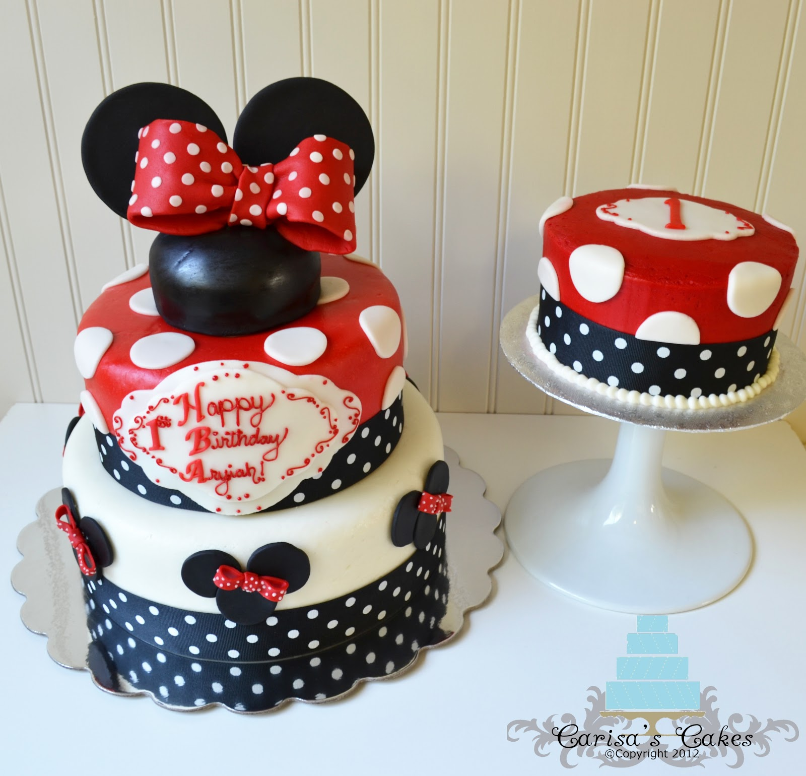Minnie Mouse Birthday Cake Red And Black Image Inspiration of Cake