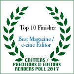 TOP 10 FINISHER BEST MAGAZINE/E-ZINE EDITOR