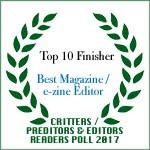 TOP 10 FINISHER BEST MAGAZINE/E-ZINE EDITOR