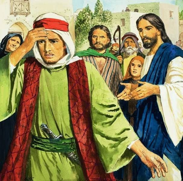 jesus and the rich young ruler A rich synagogue leader and a rich publican serve as a contrast of character this article connects the rich young ruler and zacchaeus for insight.