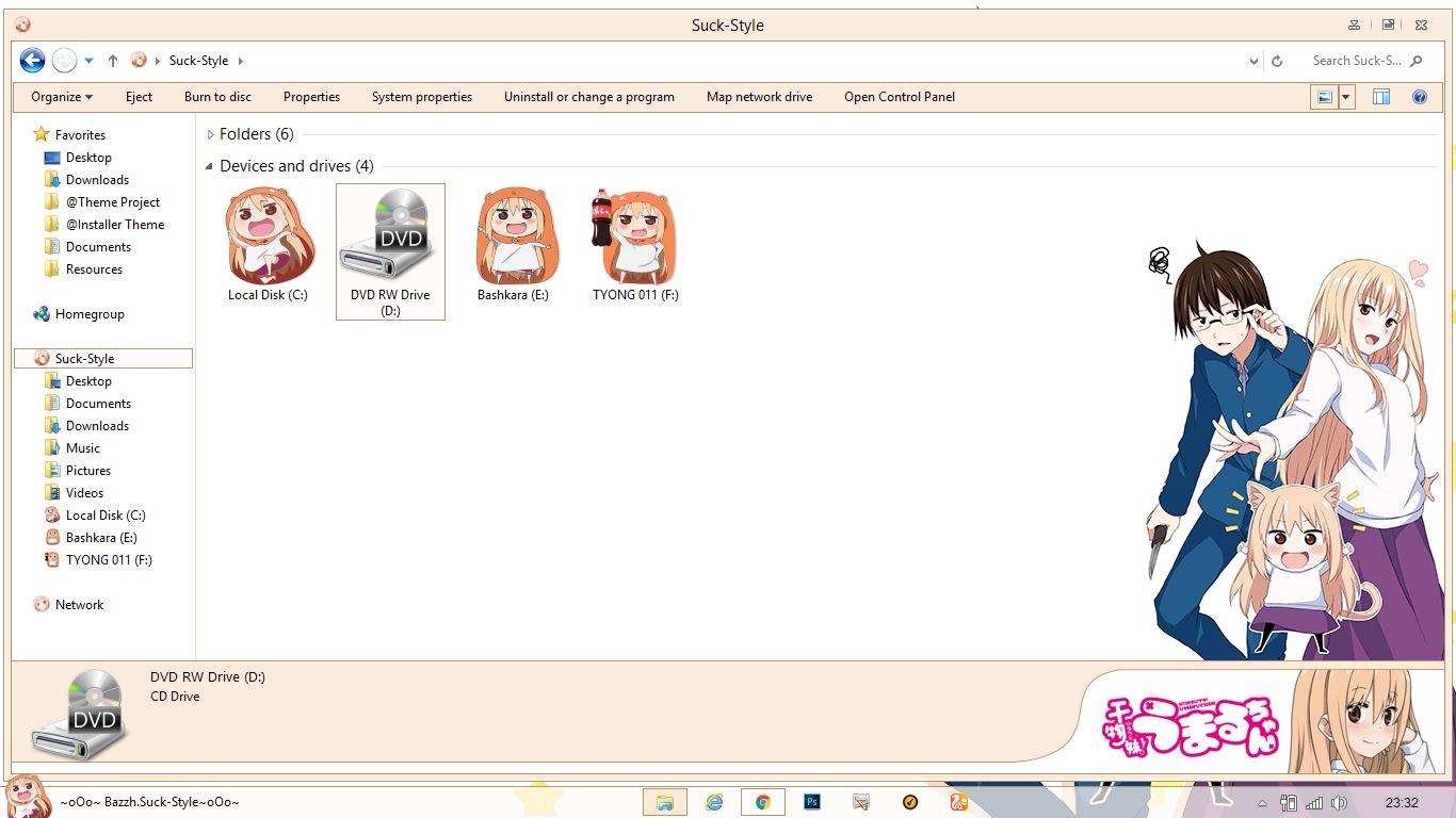 Gmail themes anime - Theme Windows 8 1 And 10 Himouto Umaru Chan By Bashkara