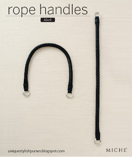 Black Miche Rope Handles