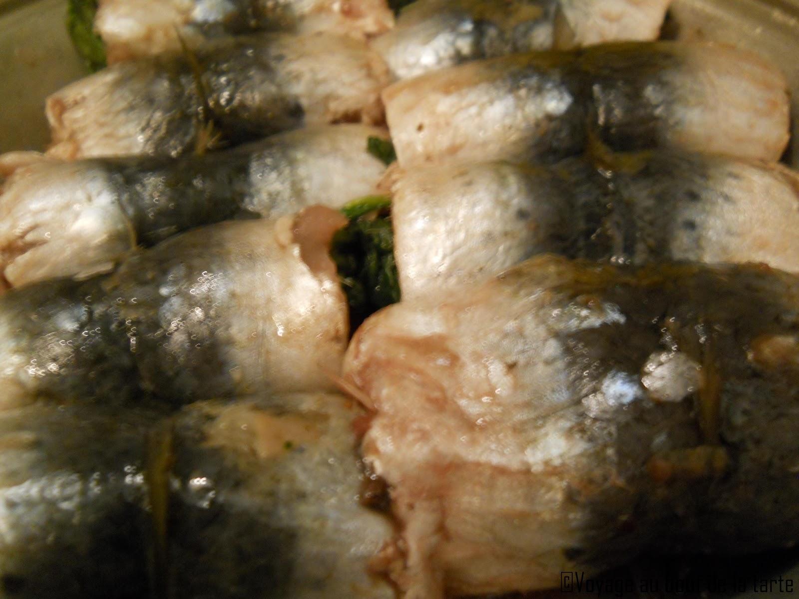 Voyage au bout de la tarte sardines farcies aux pinards - Sardines au four sans odeur ...