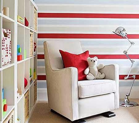 Rayas verticales o rayas horizontales para la pared - Pared rayas horizontales ...