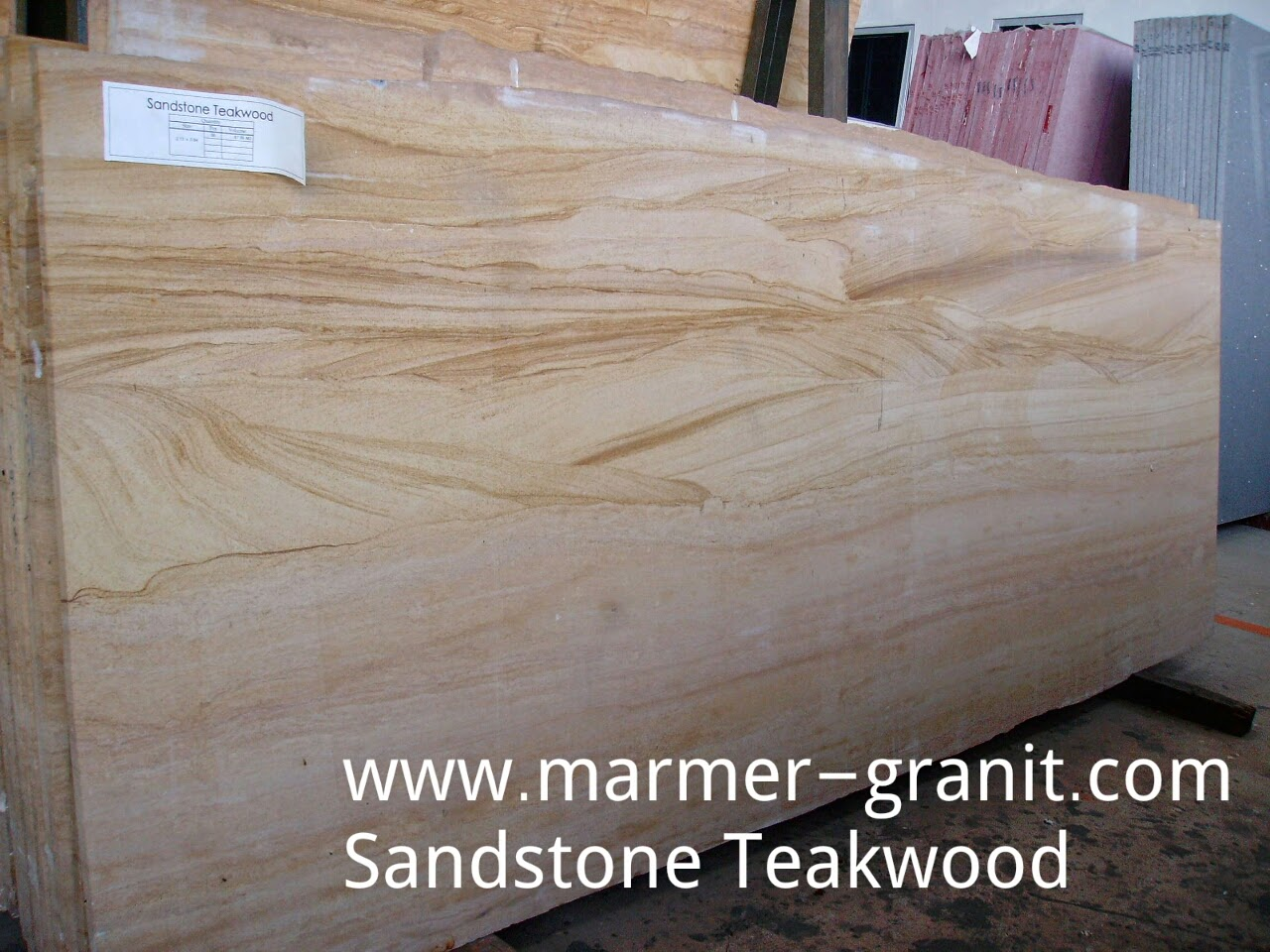 Sandstone Teakwood slabs