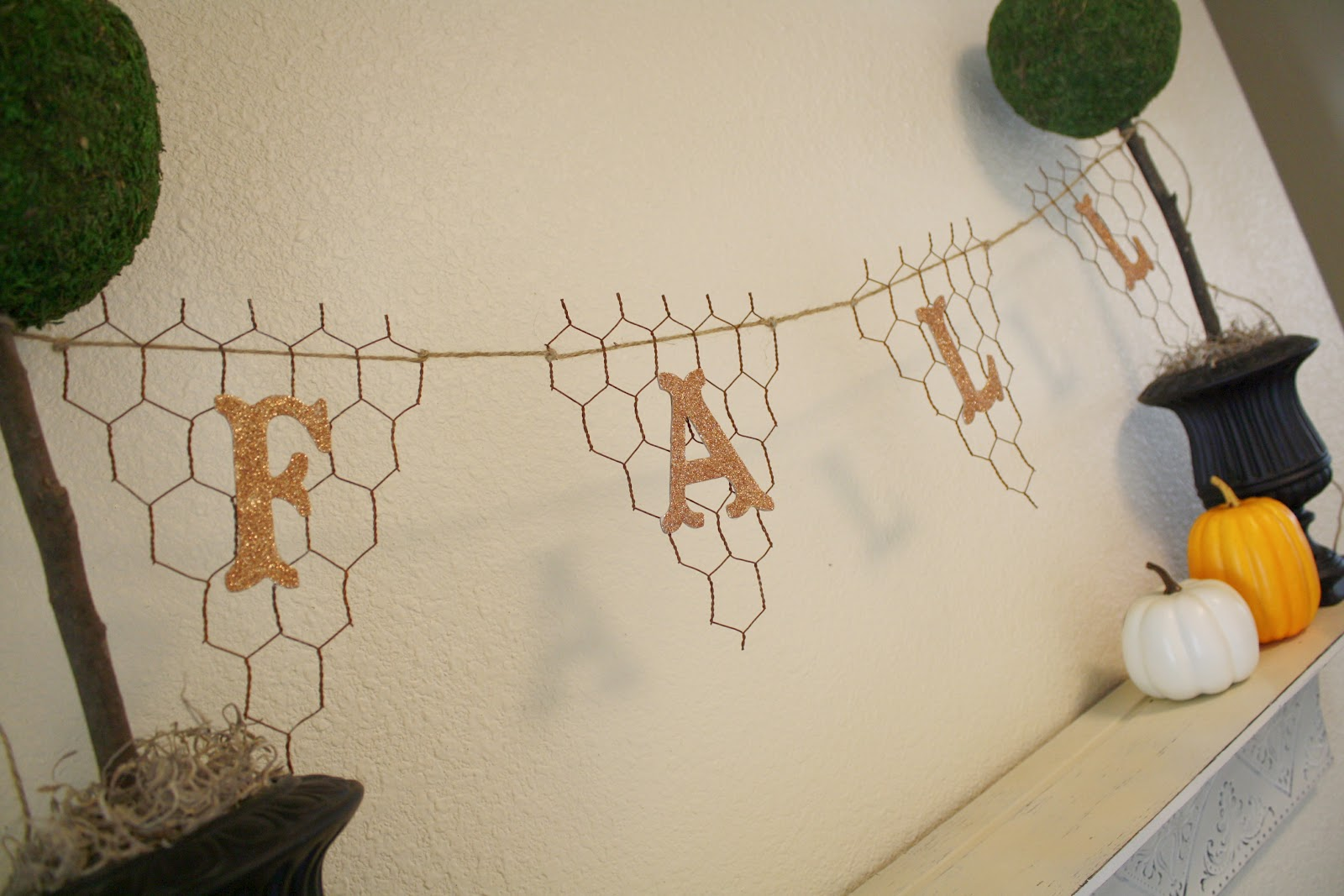 Chicken Wire Fall Banner